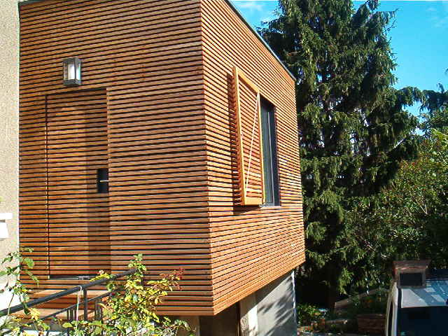Bardage extension maison